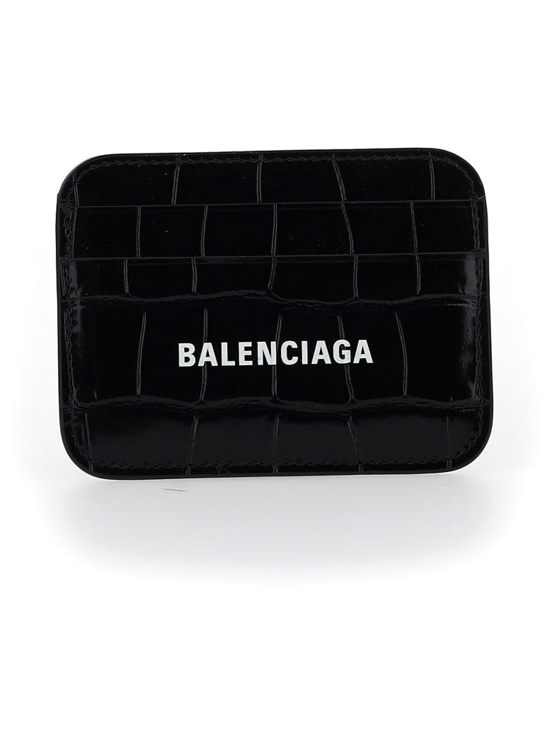 Balenciaga Card Holder - Black/l white