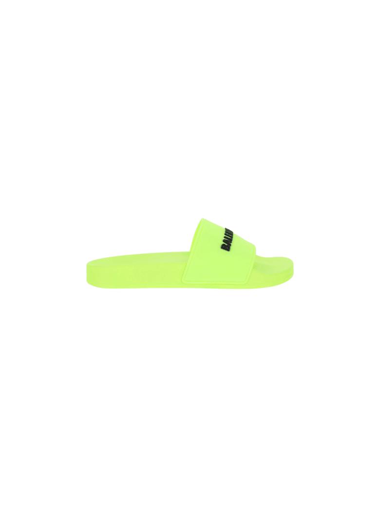 Balenciaga Pool Slides - Fluo yellow/black