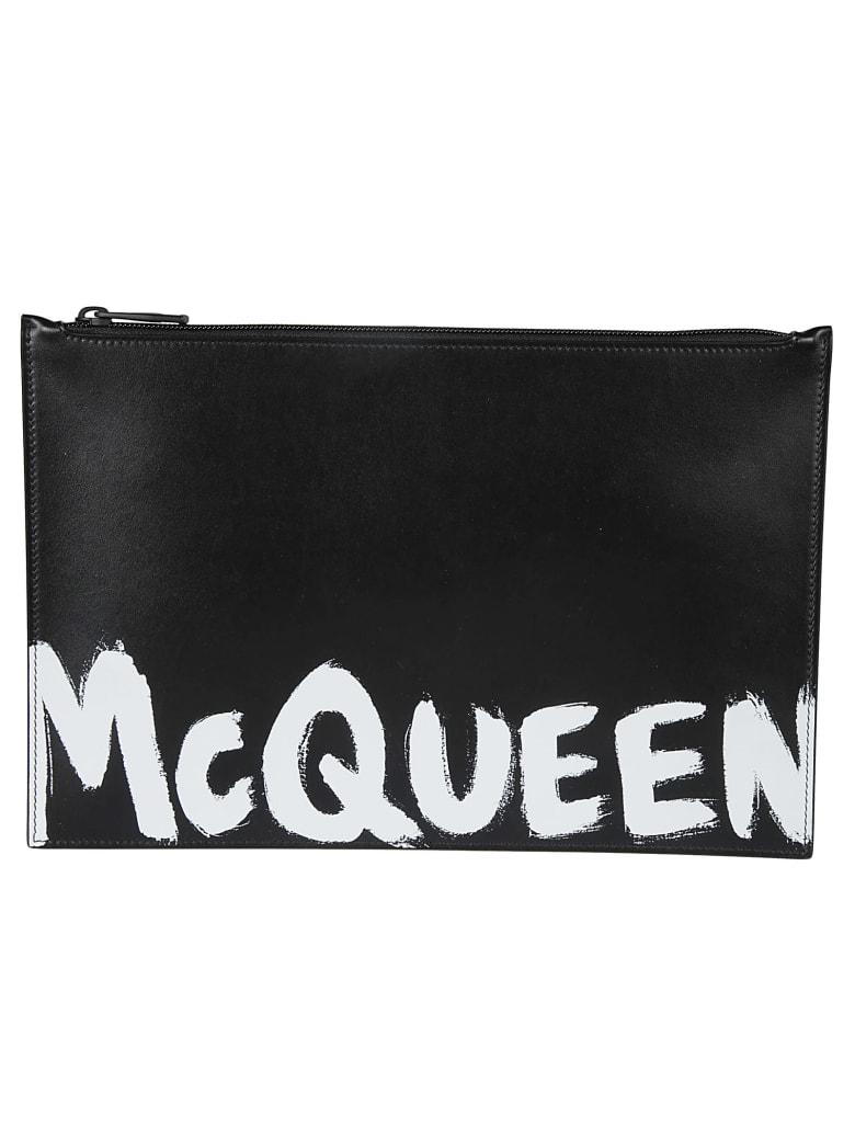 Alexander McQueen Graffiti Print Pouch - Nero