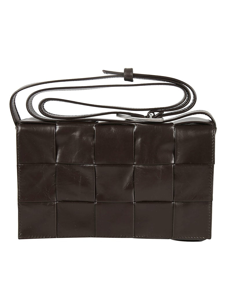 Bottega Veneta Weave Effect Shoulder Bag - Fondant/Silver