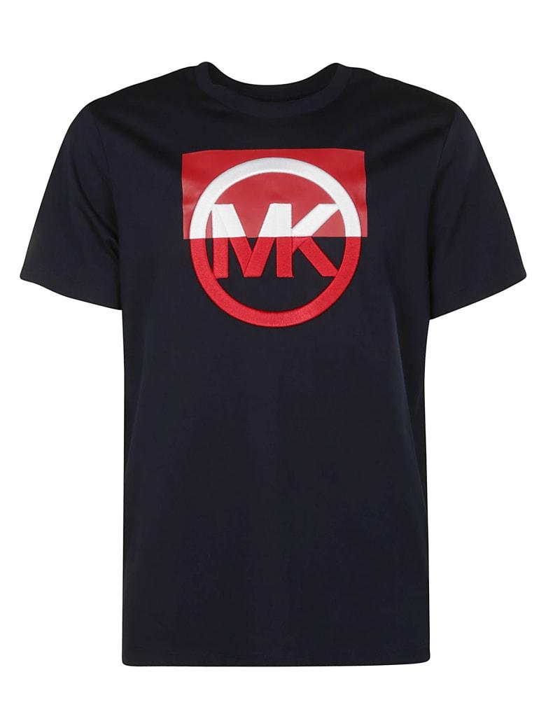 Michael Kors Logo Embroidered T-shirt - Blue