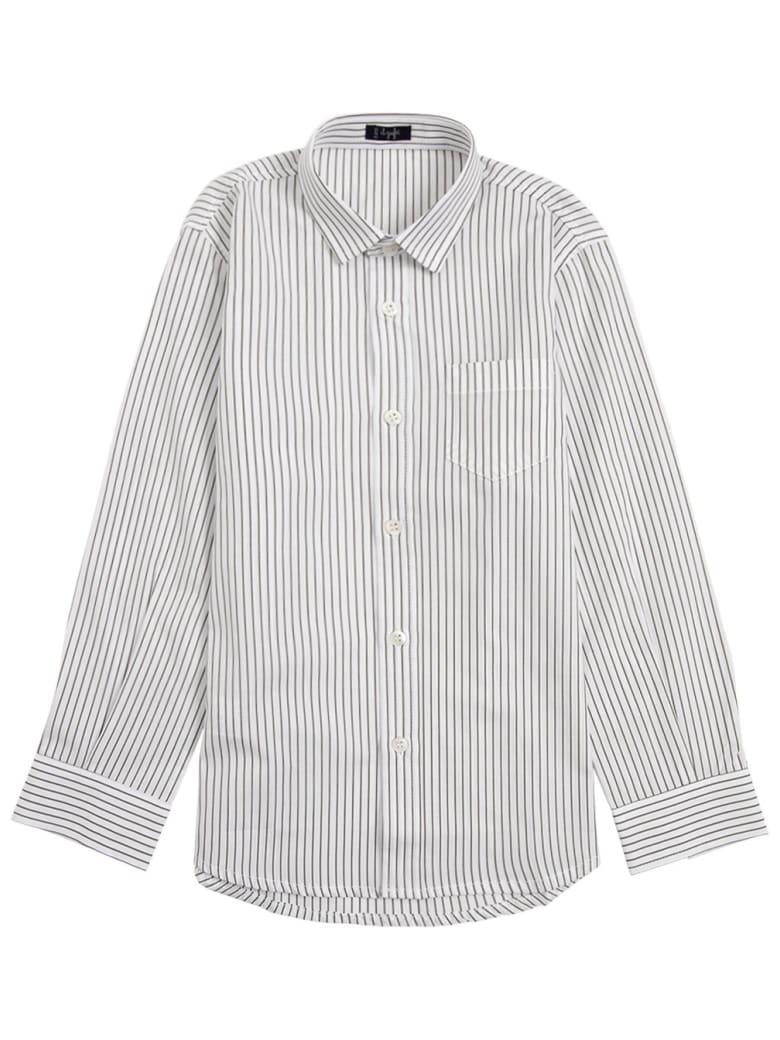 Il Gufo Striped Organic Cotton Shirt - Green