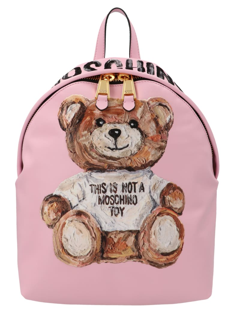Moschino 'painted Teddy' Bag - Pink