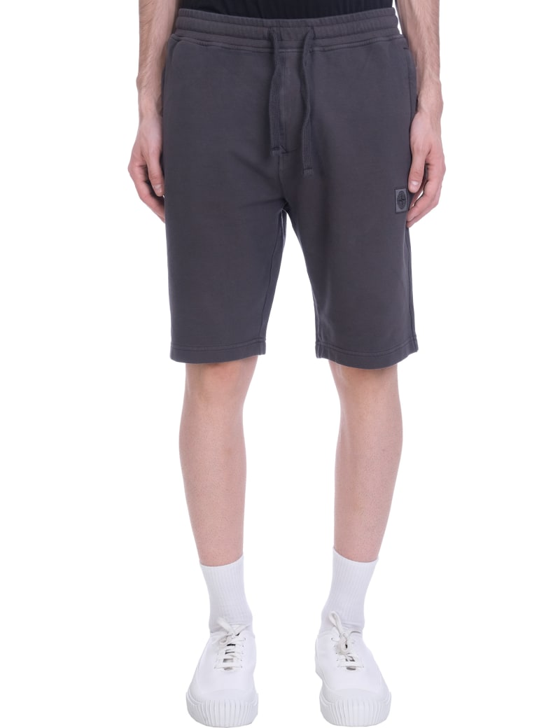 Stone Island Shorts In Grey Cotton - grey