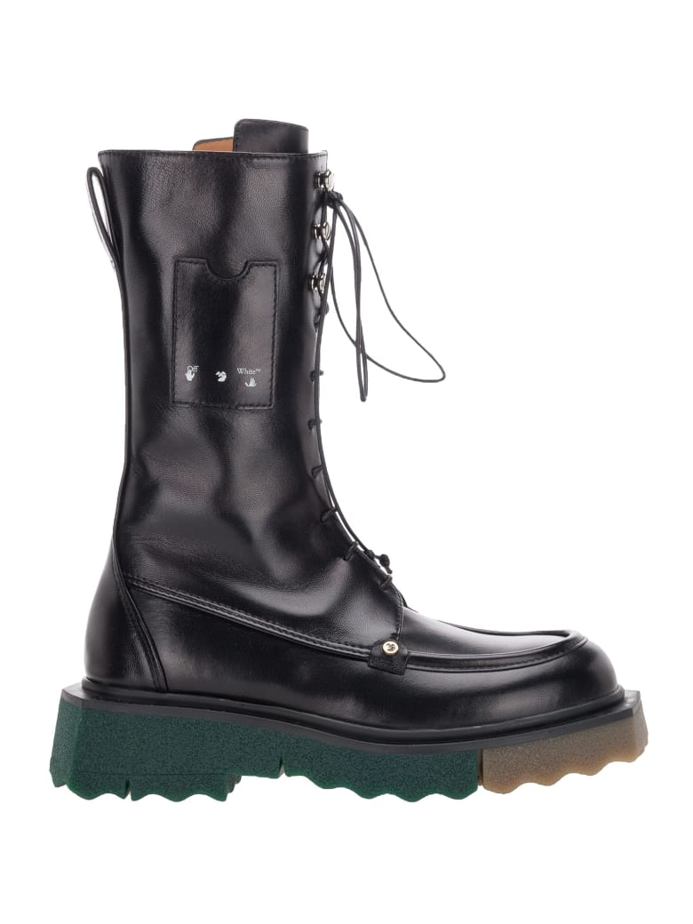 Off-White Off White Sponge Combat Boot - Nero
