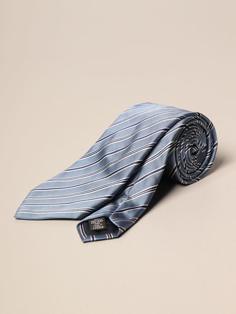 Ermenegildo Zegna Tie Ermenegildo Zegna Tie In Micro Patterned Silk - Blue