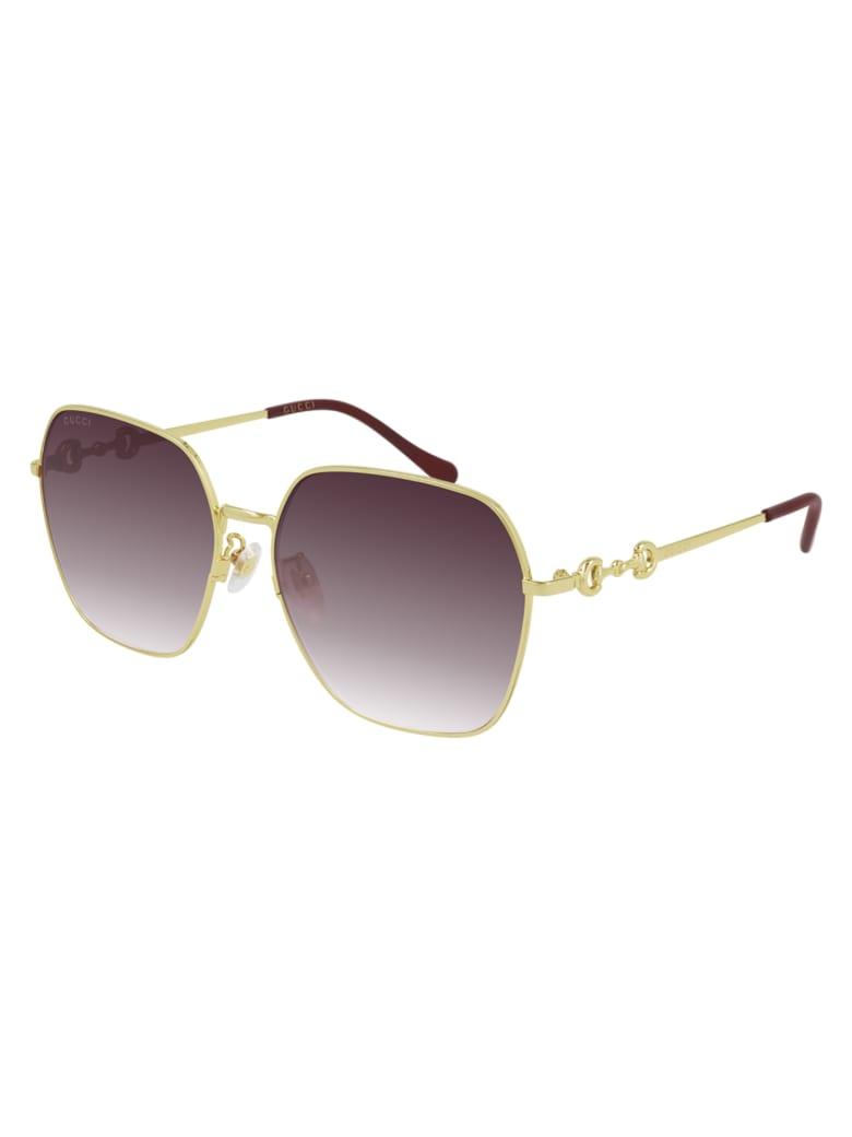 Gucci GG0882SA Sunglasses - Gold Gold Red