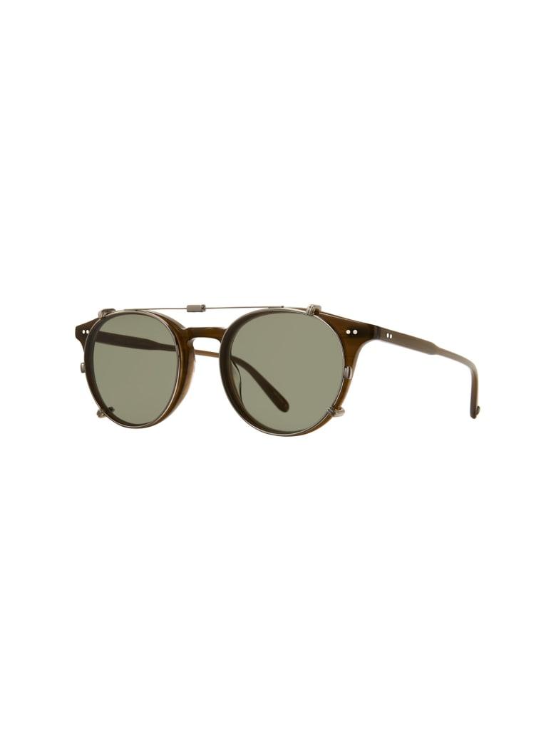 Garrett Leight 5047/45 CLUME CLIP 45 Sunglasses - Bs/grn Brushed Silver