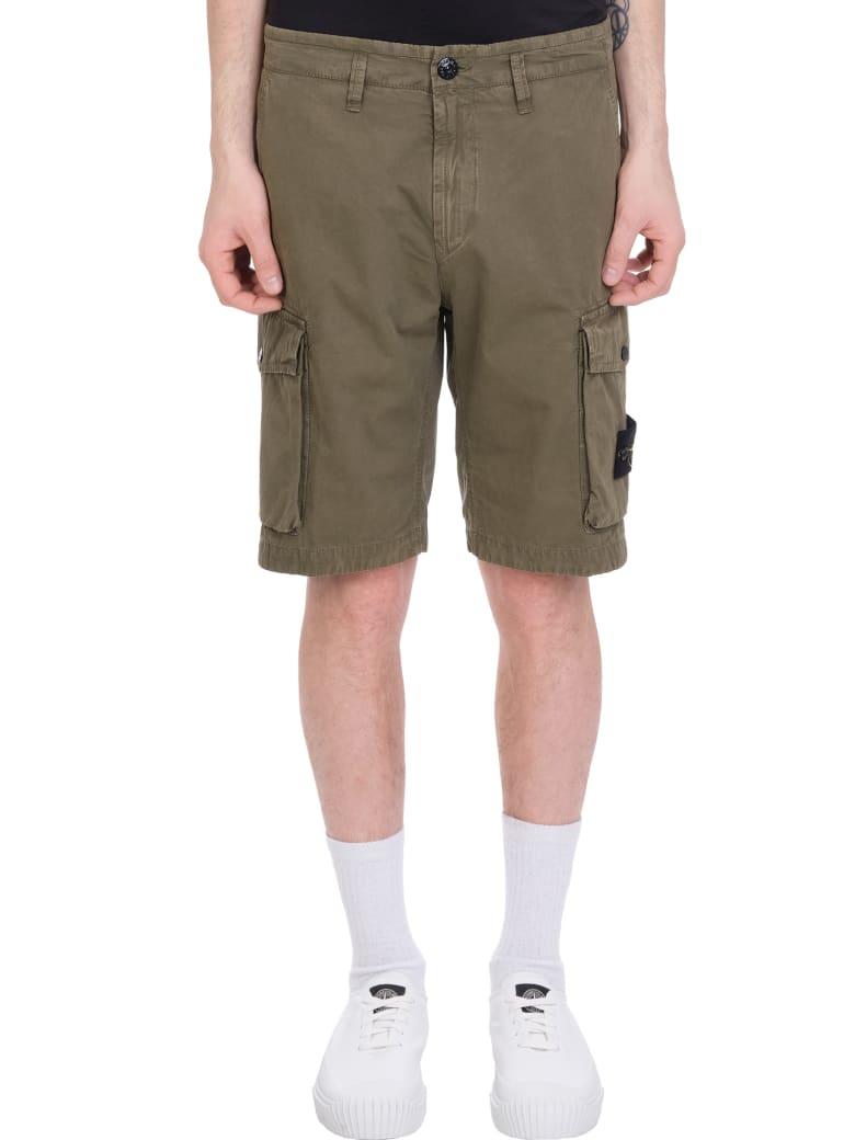 Stone Island Shorts In Green Cotton - green