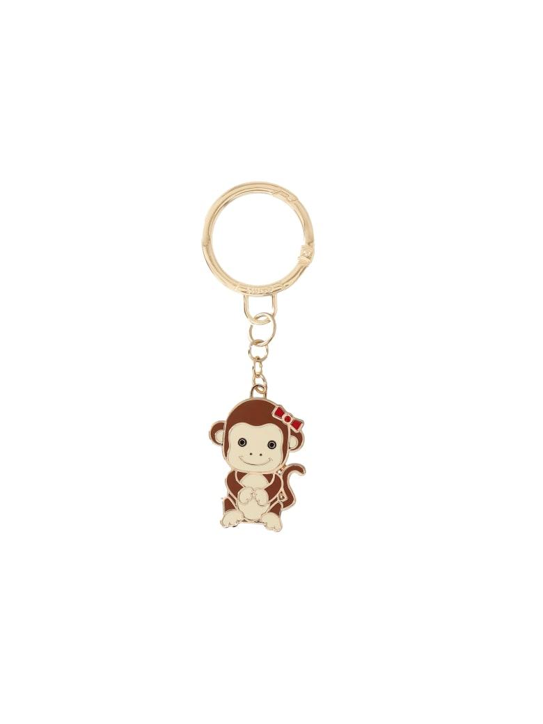 Liu-Jo Monkey Key Ring - Brown