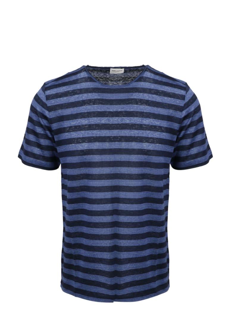 Saint Laurent Striped Monogram T-shirt