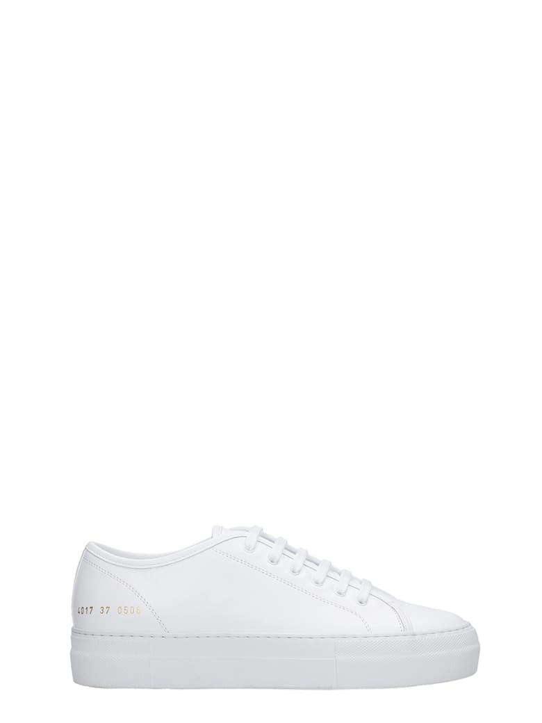 Common Projects Tournament  Sneakers In White Leather - white