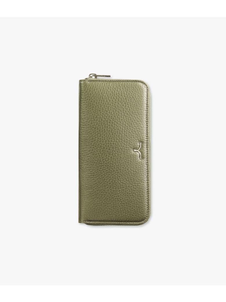 "Larusmiani Wallet ""black Swan"" - military green"