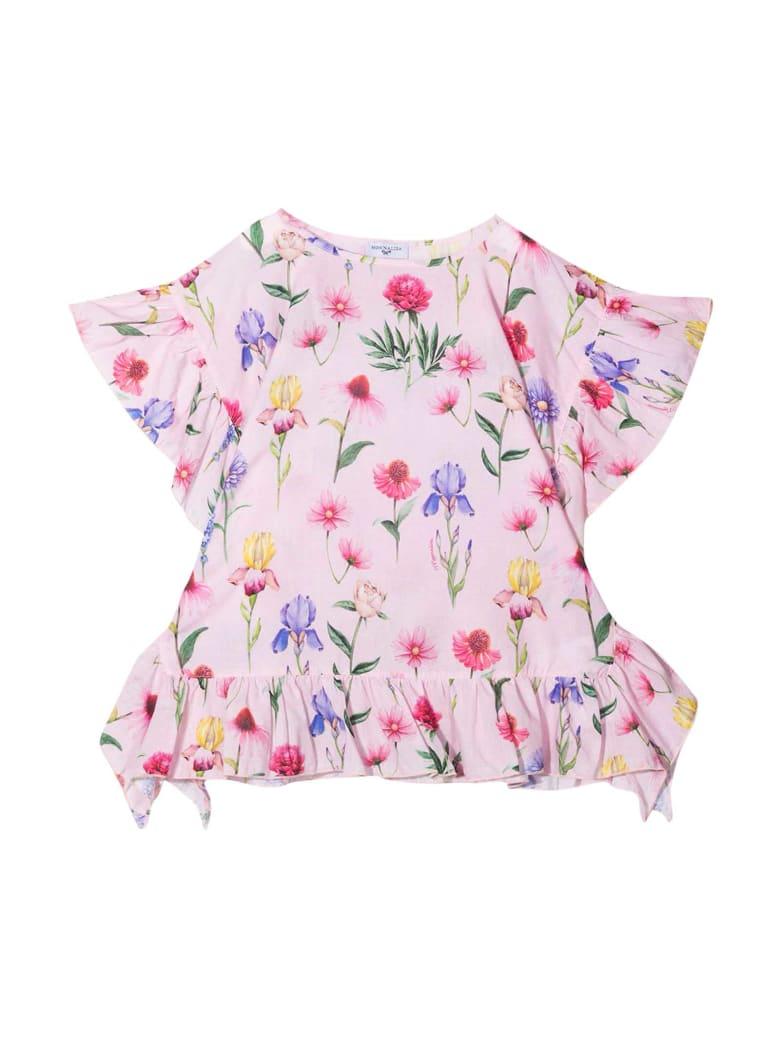 Monnalisa Pink Floral T-shirt - Rosa