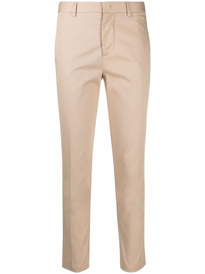 Merci Beige Cotton Tailored Pants - Beige