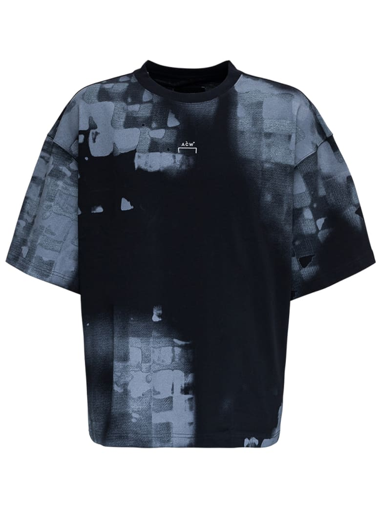 A-COLD-WALL Brush Stroke Jersey T-shirt With Logo - Black