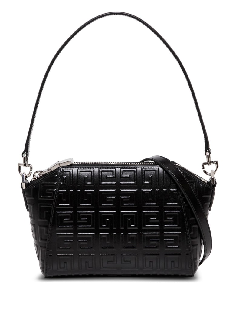 Givenchy Antigona Crossbody Bag In 4g Quilted Leather - Black