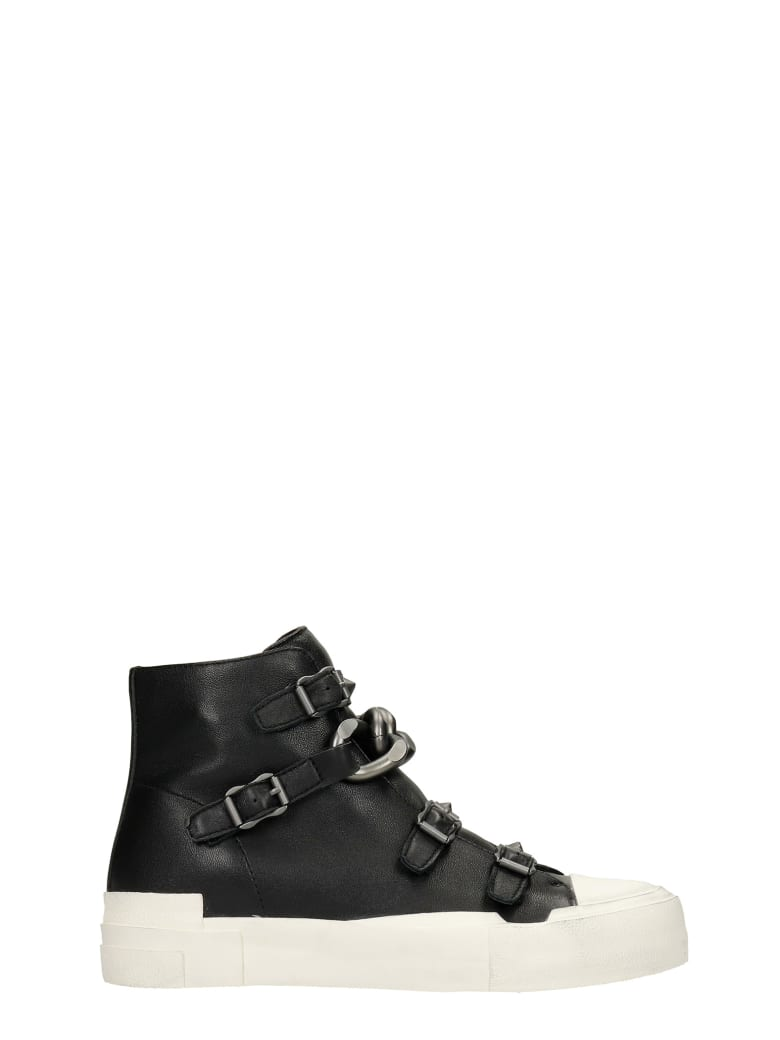 Ash Galaxy Sneakers In Black Leather - black