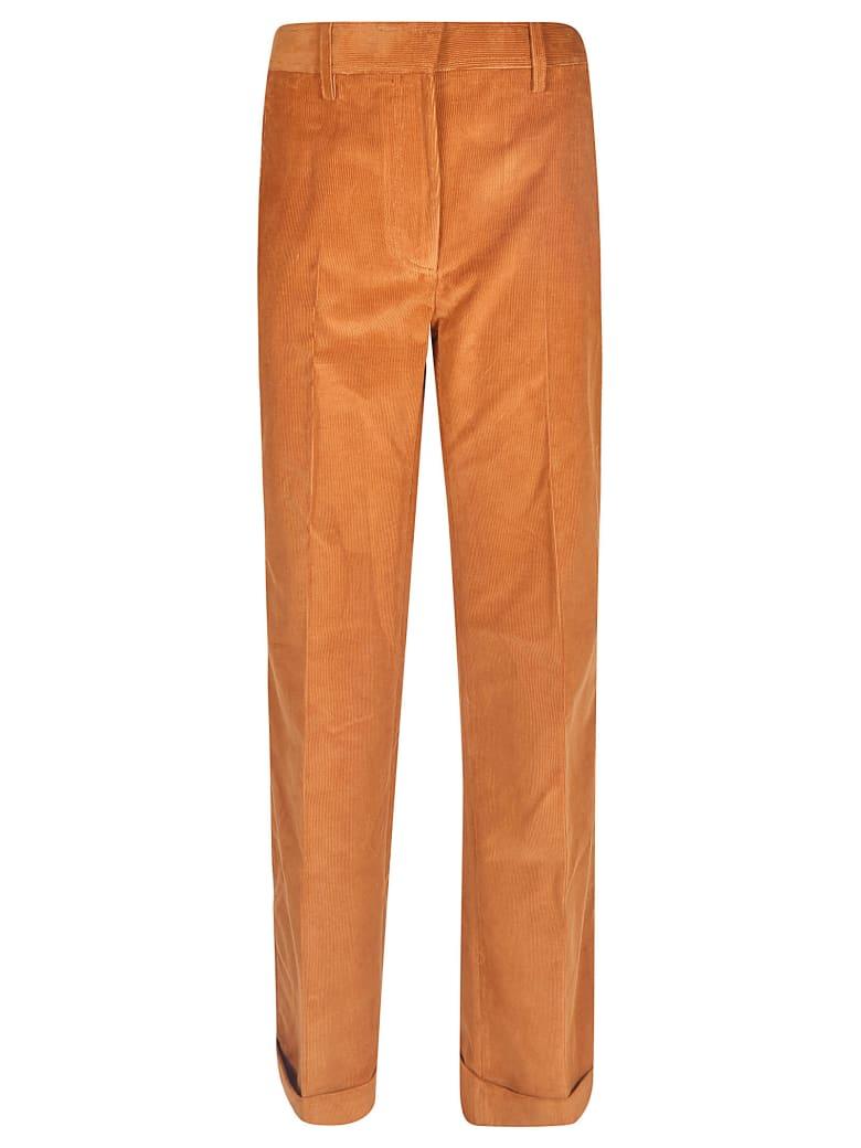 Victoria Beckham Plain Corduroy Trousers - Ruggine