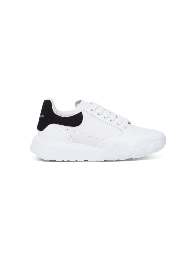Alexander McQueen Oversize Sneakers In White Leather - White/black