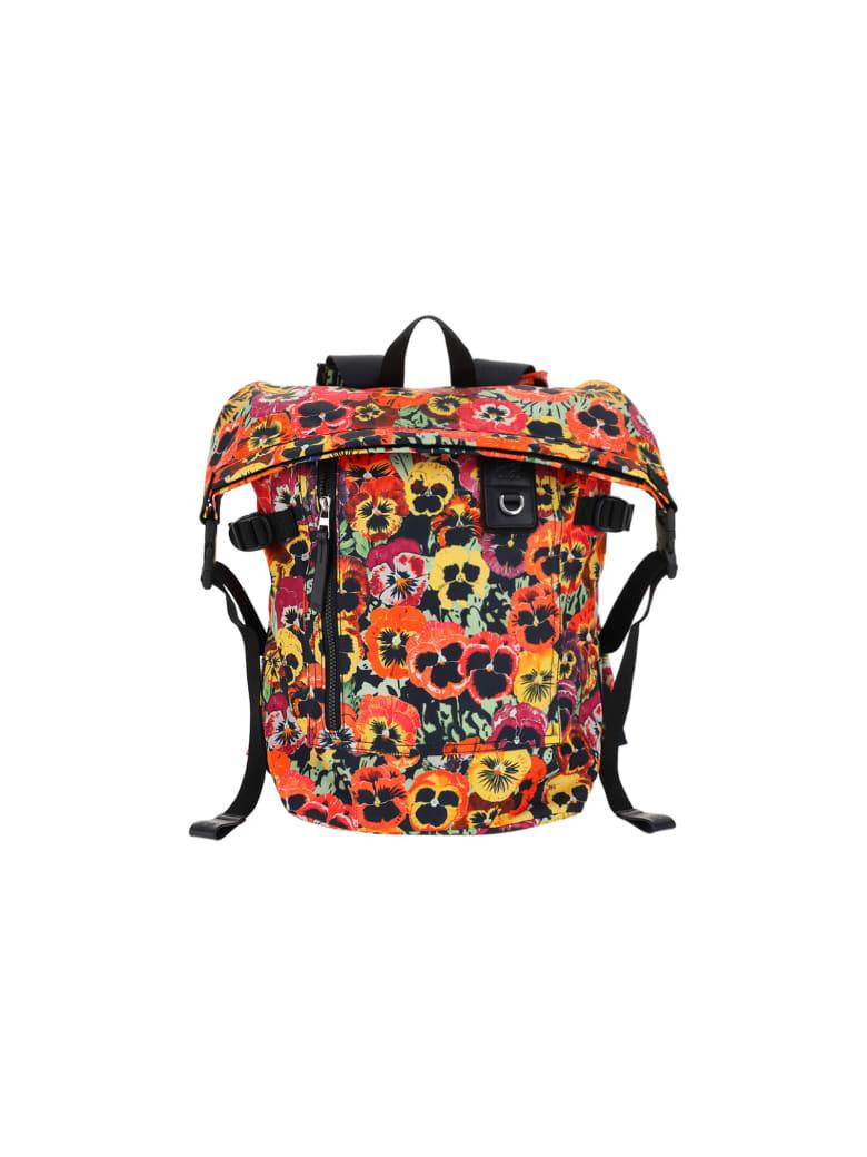 Loewe Pansies Backpack - Black/multicolor
