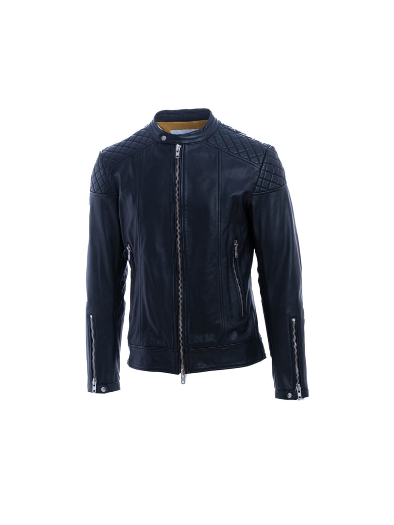 S.W.O.R.D 6.6.44 Sword 6.6.44 Leather Jacket - BLACK