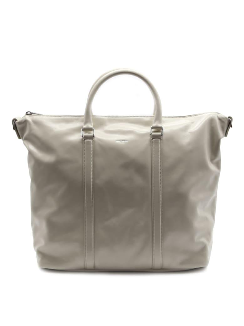 Saint Laurent Supple Bag Sac De Jour Cream In Leather - Crema soft