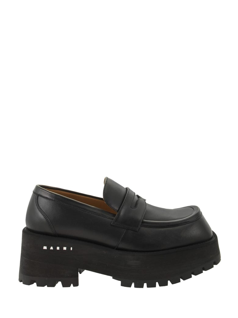Marni Soft Nappa Loafer - Black