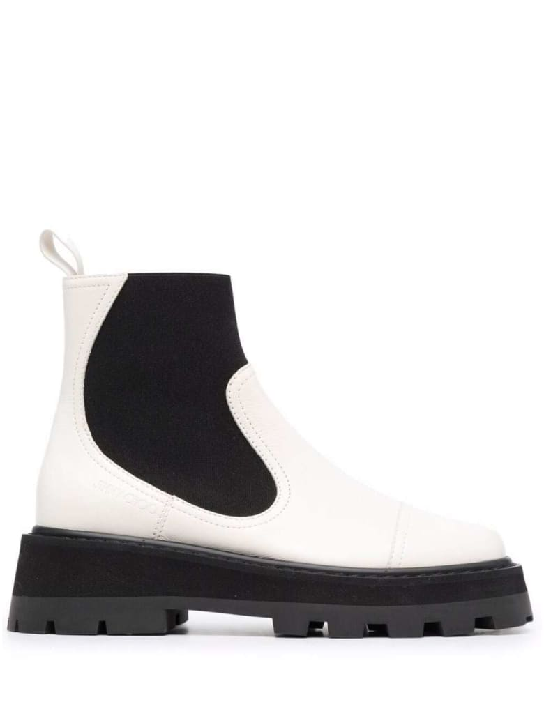Jimmy Choo Clayton White Leather Boots - White