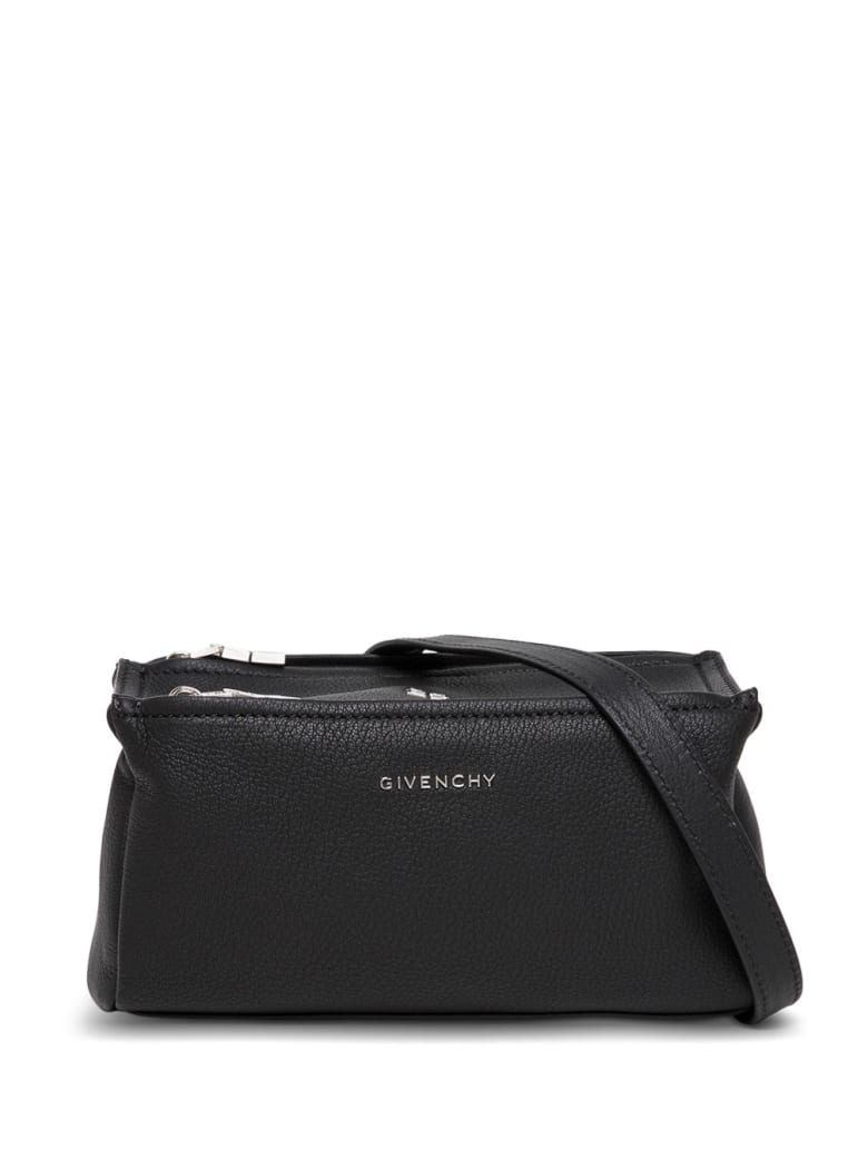 Givenchy Pandora Crossbody Bag In Black Leather With Logo - Black