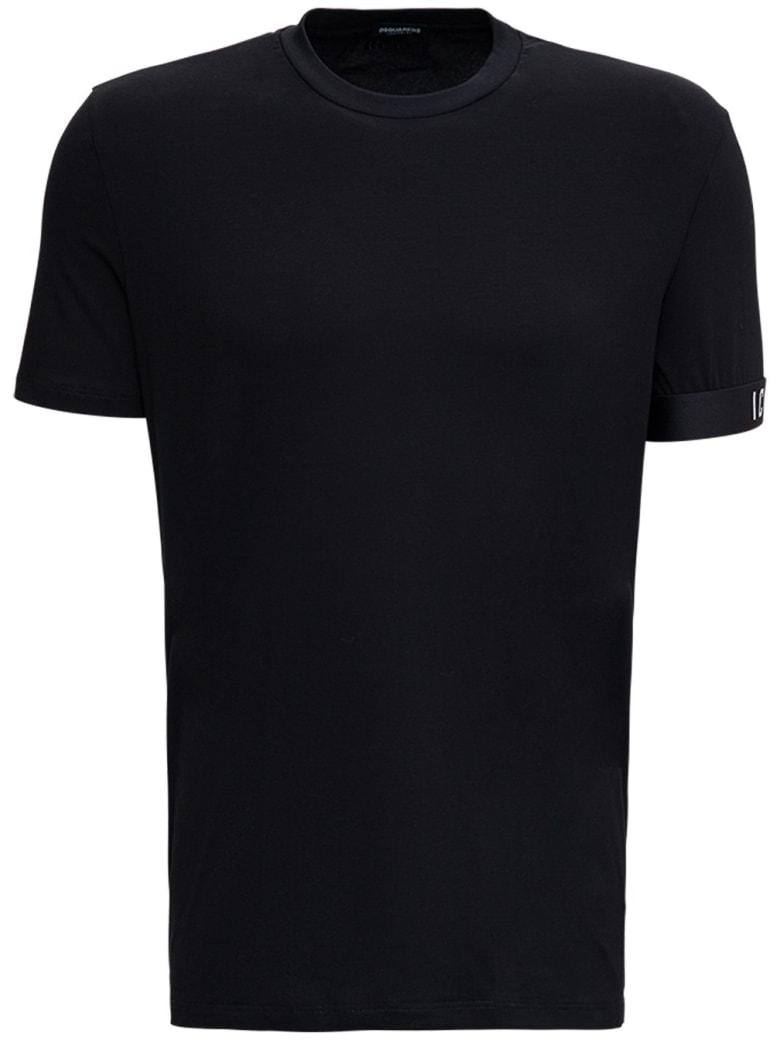 Dsquared2 Black Cotton T-shirt With Logo - Black