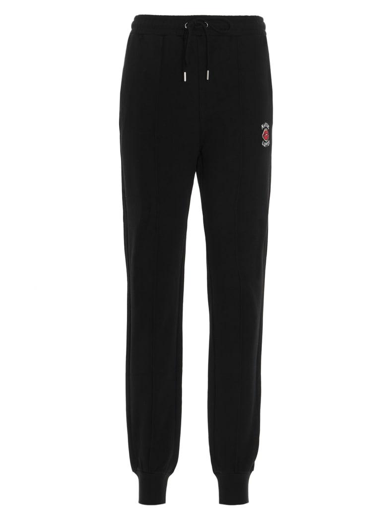 Markus Lupfer 'aliza Embroiderd Lip' Sweatpants - Black
