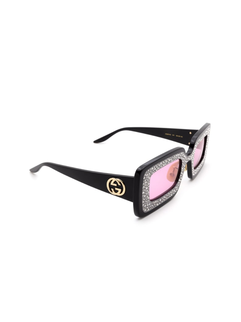 Gucci GG0974S Sunglasses - Black Black Pink