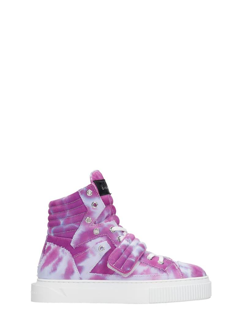 Gienchi Hypnos Sneakers In Viola Canvas - Viola