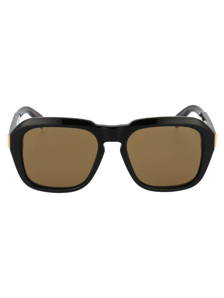 Dunhill Du0001s Sunglasses - 001 BLACK BLACK BROWN