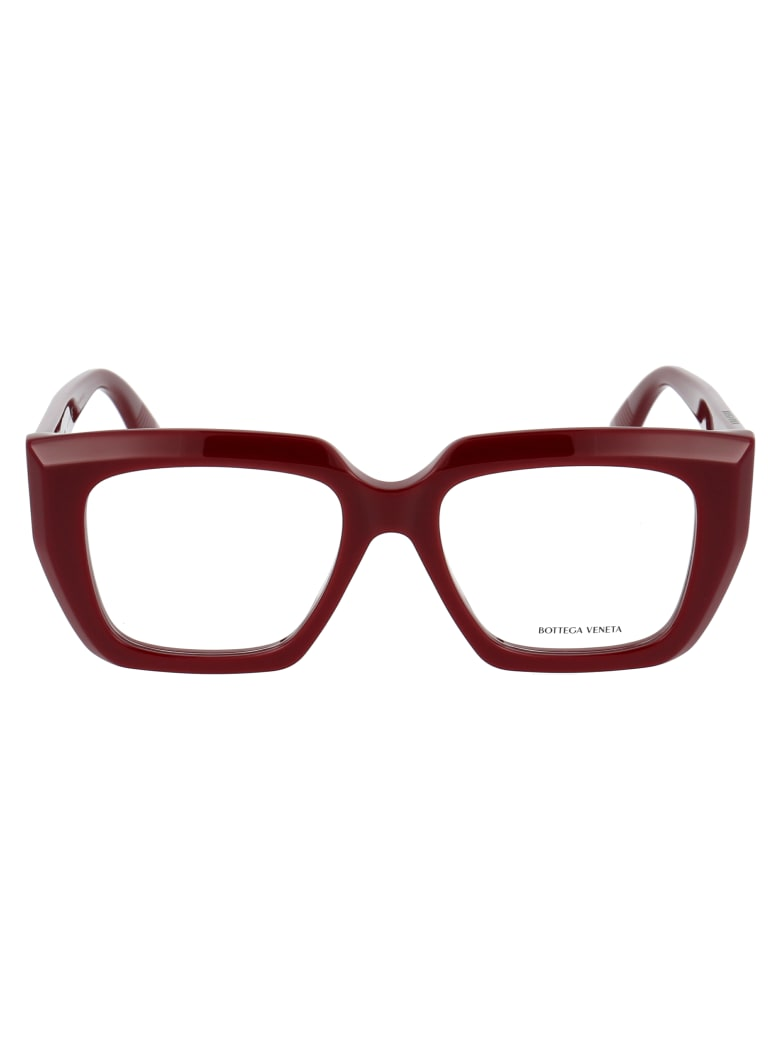 Bottega Veneta Bv1032o Glasses - 003 BURGUNDY BURGUNDY TRANSPARENT