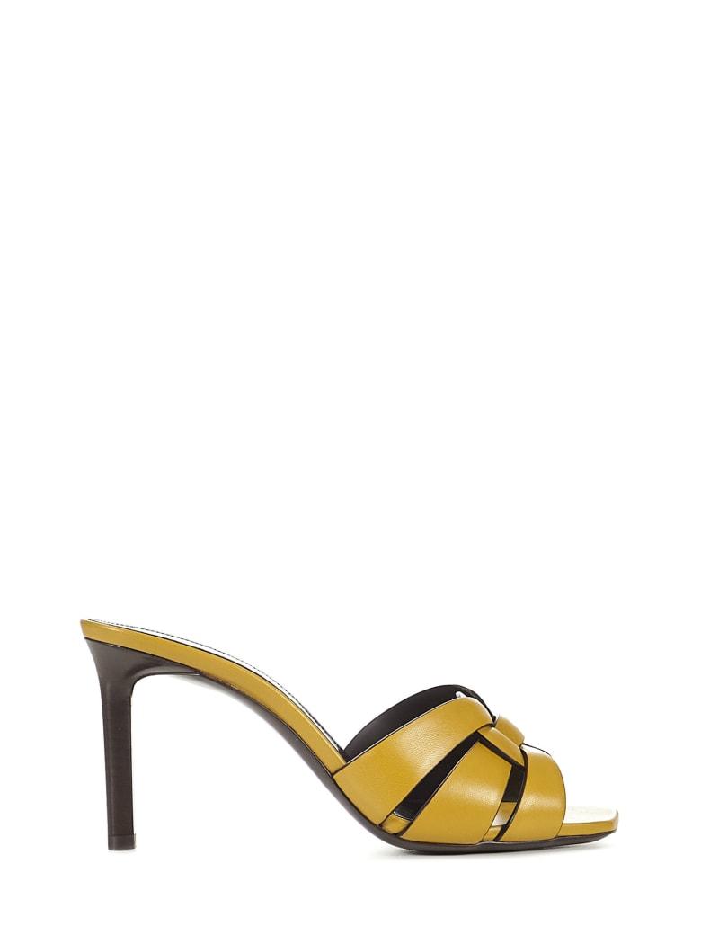 Saint Laurent Tribute 85 Sandals - Yellow