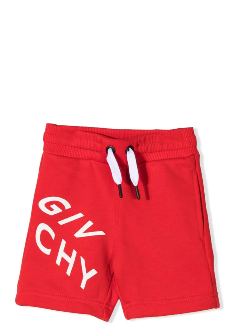 Givenchy Sports Shorts With Print - Red