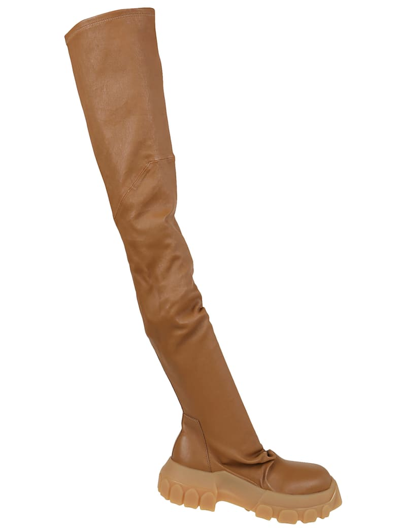 Rick Owens Leather Boots - Honey