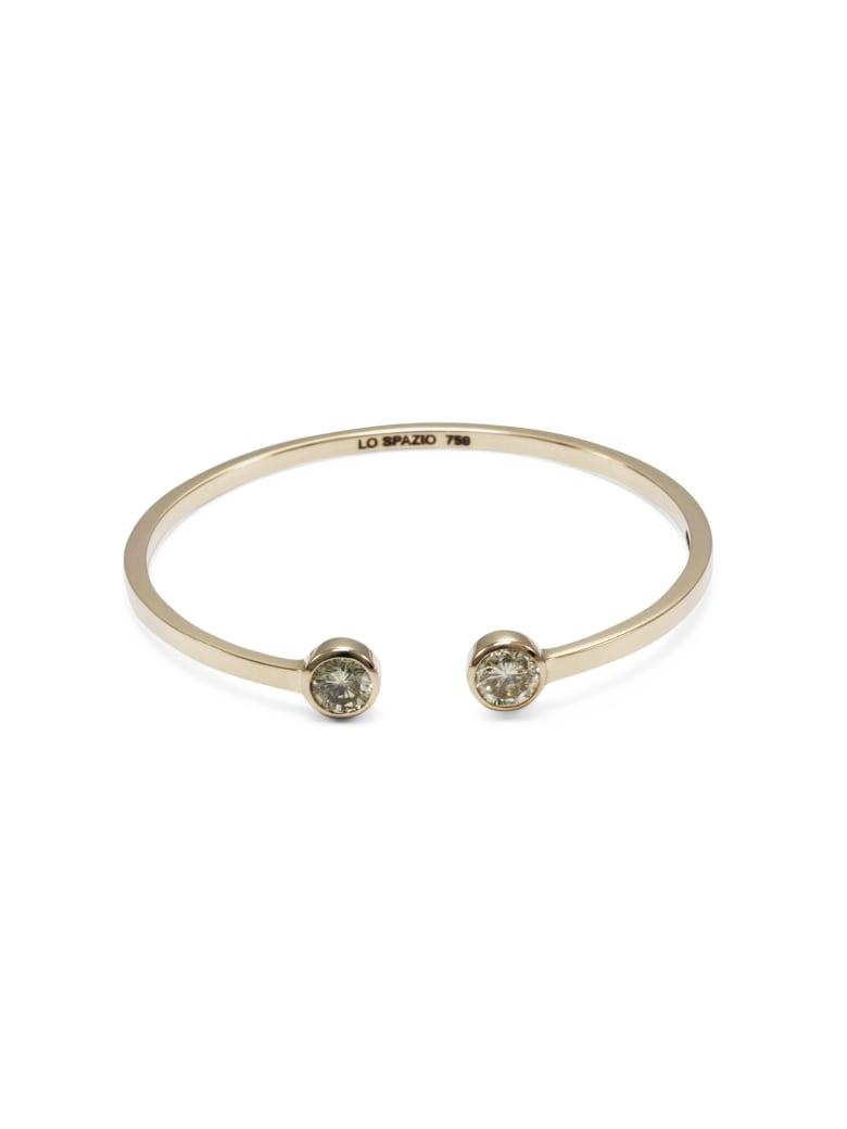 Lo Spazio Jewelry Lo Spazio White Diamond Bangle - White