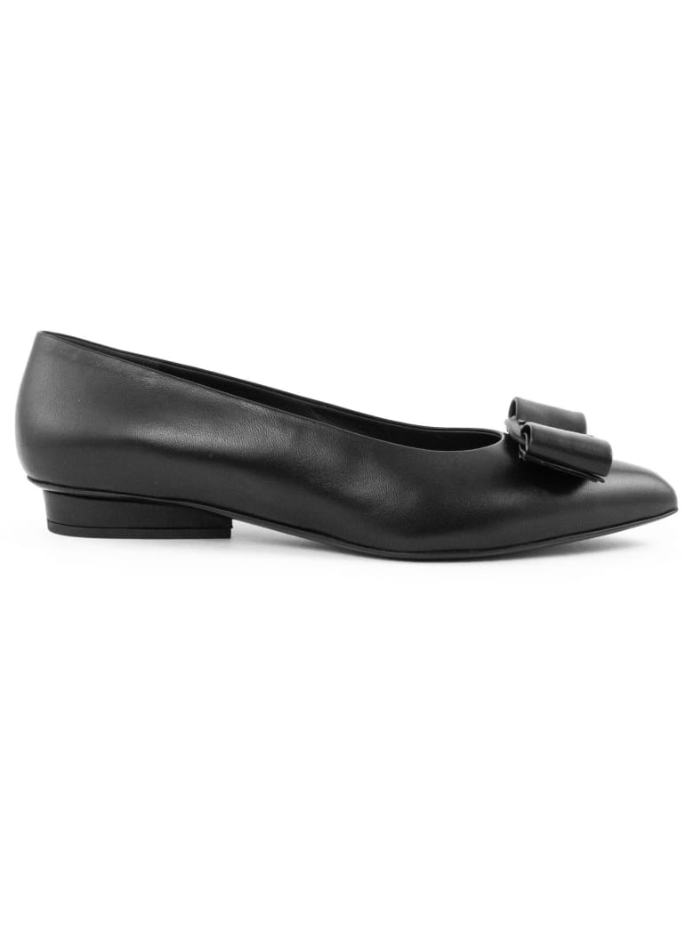 Salvatore Ferragamo Viva Ballet In Black Nappa - Nero