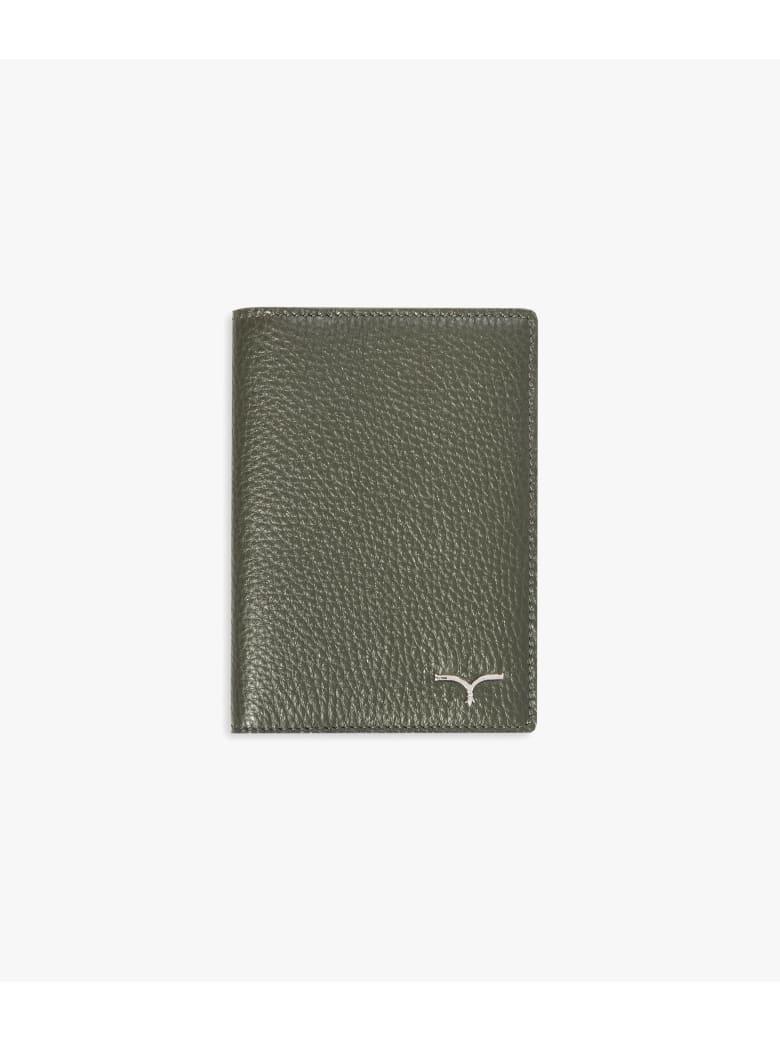 """Larusmiani Passport Cover """"concorde"""" - military green"""