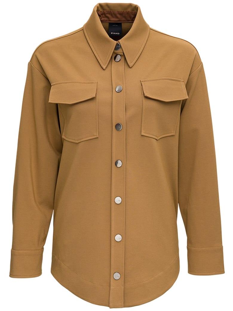 Pinko Tartu Jacket In Viscose Blend - Beige