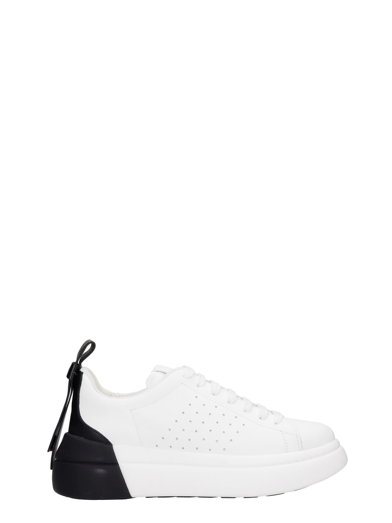 RED Valentino Sneakers In White Leather - white