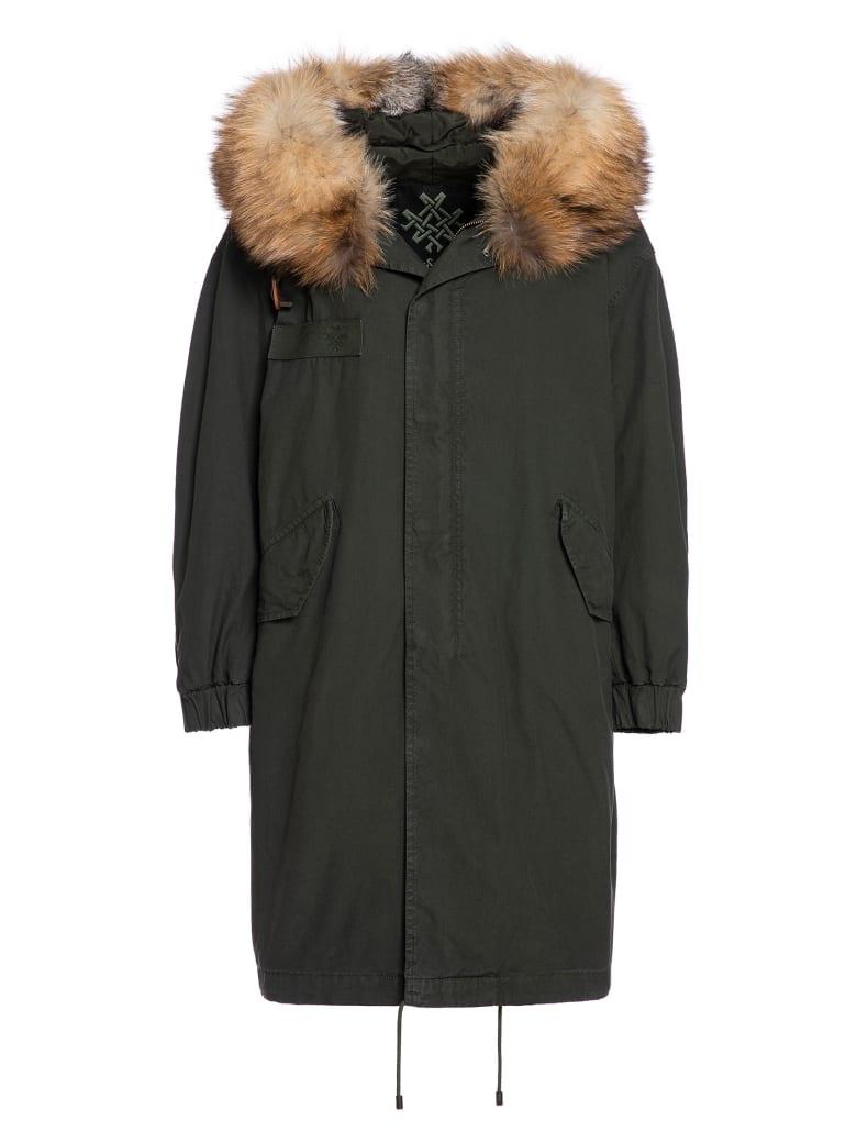 Mr & Mrs Italy London Parka M51 For Woman With Fox Fur - DARK LONDON GREEN / DARK GREEN / NATURAL