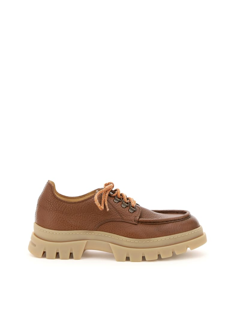 Henderson Baracco Nordic Leather Lace-up Shoes - TABACCO MIELE (Brown)