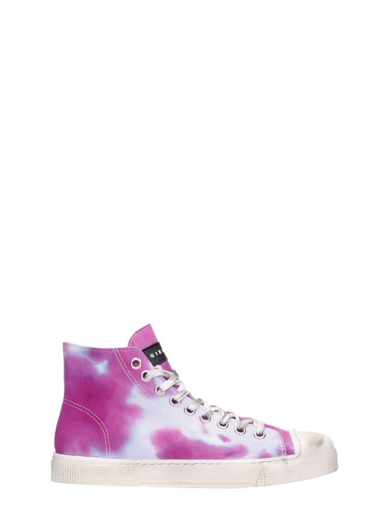 Gienchi J.m. High Sneakers In Viola Canvas - Viola