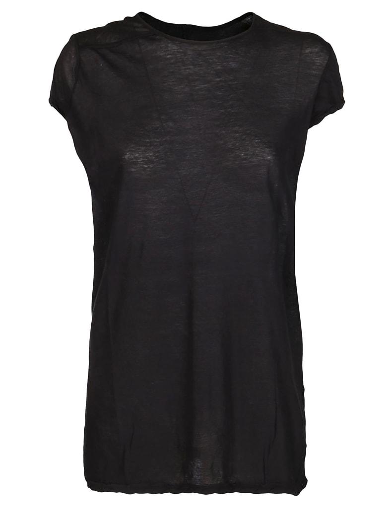 Rick Owens Black Cotton T-shirt - Black