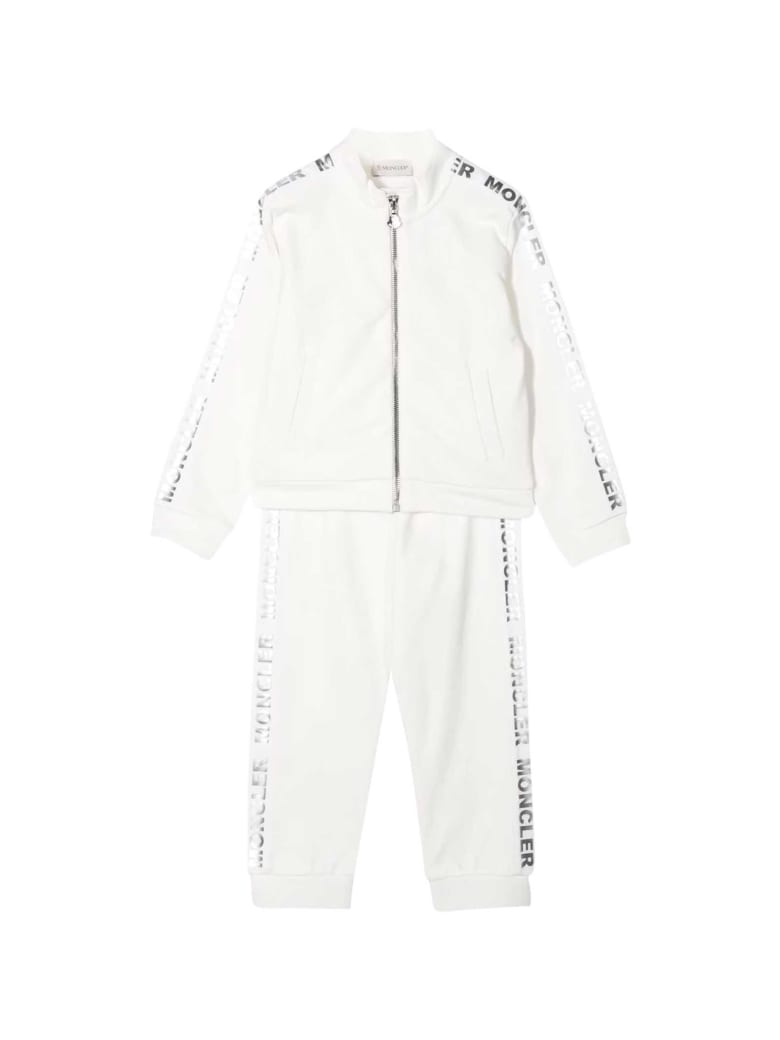 Moncler White Sporty Tracksuit - Unico