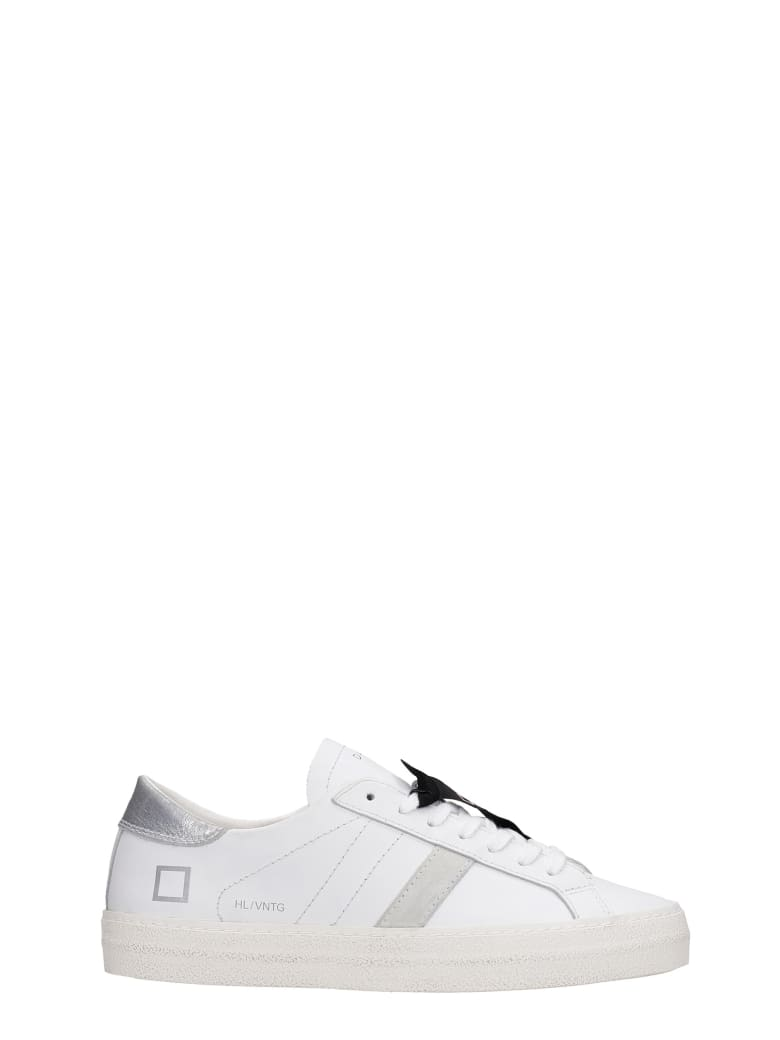 D.A.T.E. Hill Low Sneakers In White Leather - white